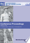 Conference Proceedings Ict For Language Learning 9th Edition