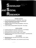 Sociology And Social Research Book PDF