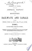 Annual Report of the Minister of Railways and Canals for the Fiscal Year