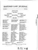 Hastings Law Journal Book