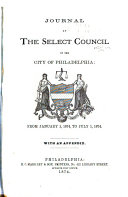 Pdf Journal of Select Council of the City of Philadelphia, for the Year ...