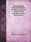 First Elements of Sacred Prophecy Pdf/ePub eBook