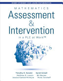 Mathematics Assessment and Intervention in a PLC at Work