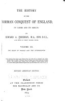 The History of the Norman Conquest of England  The reign of Harold and the interregnum  1873
