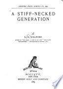A Stiff Necked Generation