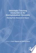 Meaningful Teaching Interaction at the Internationalised University