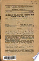 Officials And Organizations Concerned With Wildlife Protection 1936