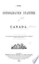 The Consolidated Statutes of Canada