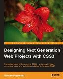 Designing Next Generation Web Projects with Css3 [Pdf/ePub] eBook
