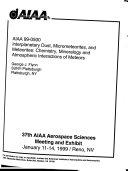 37th AIAA Aerospace Sciences Meeting and Exhibit