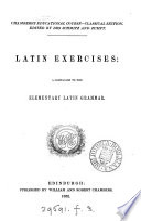 Elementary Latin grammar   With  Latin exercises Book PDF