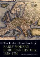 The Oxford Handbook of Early Modern European History, 1350-1750