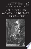 Religion And Women In Britain C 1660 1760