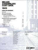 Means Assemblies Cost Data 1989 Book