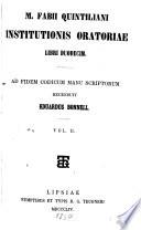 quintilian institutio oratoria book 2