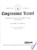 Congressional Record, V. 146, Pt. 12, July 27, 2000 to September 13 2000