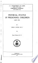 Physical Status of Preschool Children