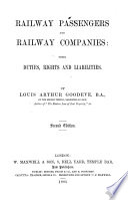Railway Passengers and Railway Companies