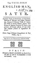 The True-Born English-Man ... The Five and Twentieth Edition