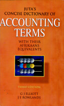 Juta's Concise Dictionary of Accounting Terms