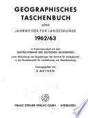 Geographisches Taschenbuch und Jahrweiser für Landeskunde