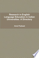 Research In English Language Education In Indian Universities A Directory