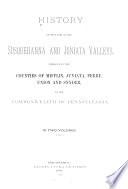 History of that Part of the Susquehanna and Juniata Valleys