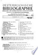 Öesterreichische Bibliographie
