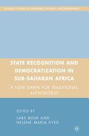 Pdf State Recognition and Democratization in Sub-Saharan Africa Telecharger