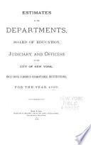 Departmental Estimates for Budget