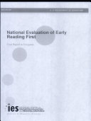 National evaluation of Early Reading First final report [Pdf/ePub] eBook
