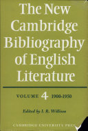 The New Cambridge Bibliography Of English Literature Volume 4 1900 1950