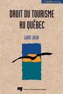 Droit du Tourisme au Québec ebook