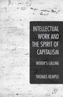Pdf Intellectual Work and the Spirit of Capitalism Telecharger