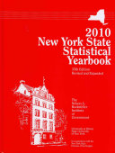 New York State Statistical Yearbook 2010 Book