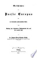 Bd. Literaturgeschichte der neueren Zeit
