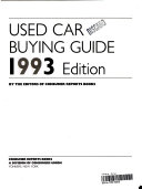 Used Car Buying Guide  1993