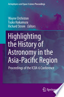 Highlighting the History of Astronomy in the Asia-Pacific Region
