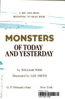 Monsters of Today and Yesterday