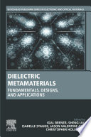 Dielectric Metamaterials Book