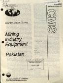 Mining Industry Equipment, Pakistan