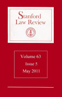 Stanford Law Review: Volume 63, Issue 5 - May 2011: