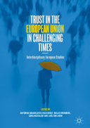 Trust in the European Union in Challenging Times Book