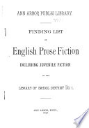 Finding List of English Prose Fiction, Including Juvenile Fiction, in the Library of School District