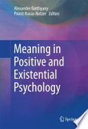 Meaning In Positive And Existential Psychology Book PDF