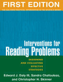 Interventions for Reading Problems Book