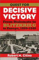Quest for Decisive Victory Book PDF