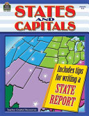 States and Capitals  Grades 4 5