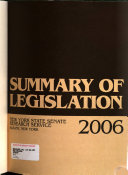 Summary Of Legislation