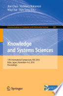 Knowledge And Systems Sciences Book PDF